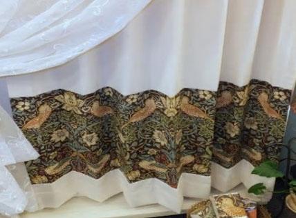 裾パッチワークカーテン