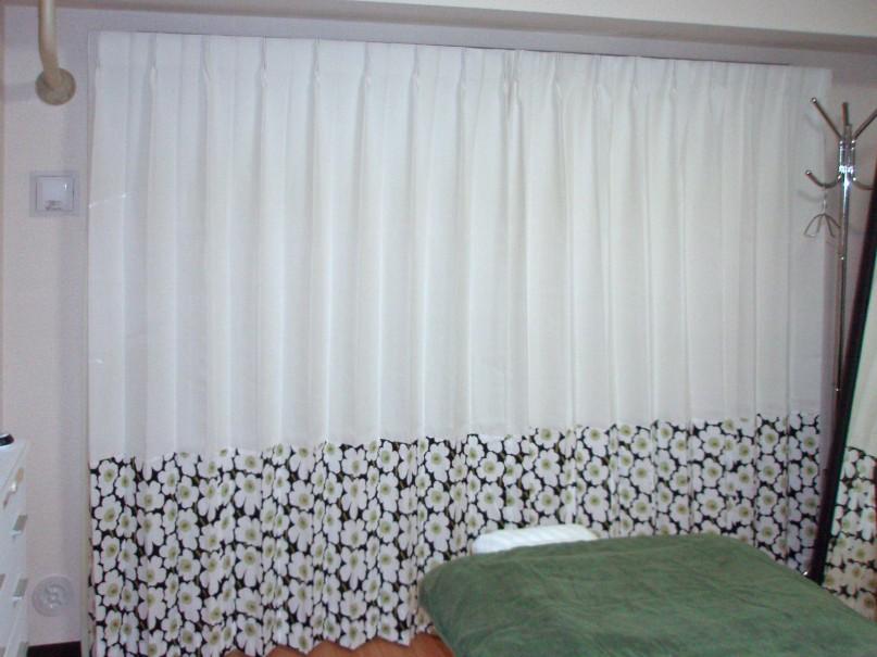 マリメッコ切替カーテン