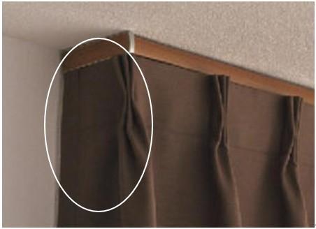 リターン付き縫製カーテン