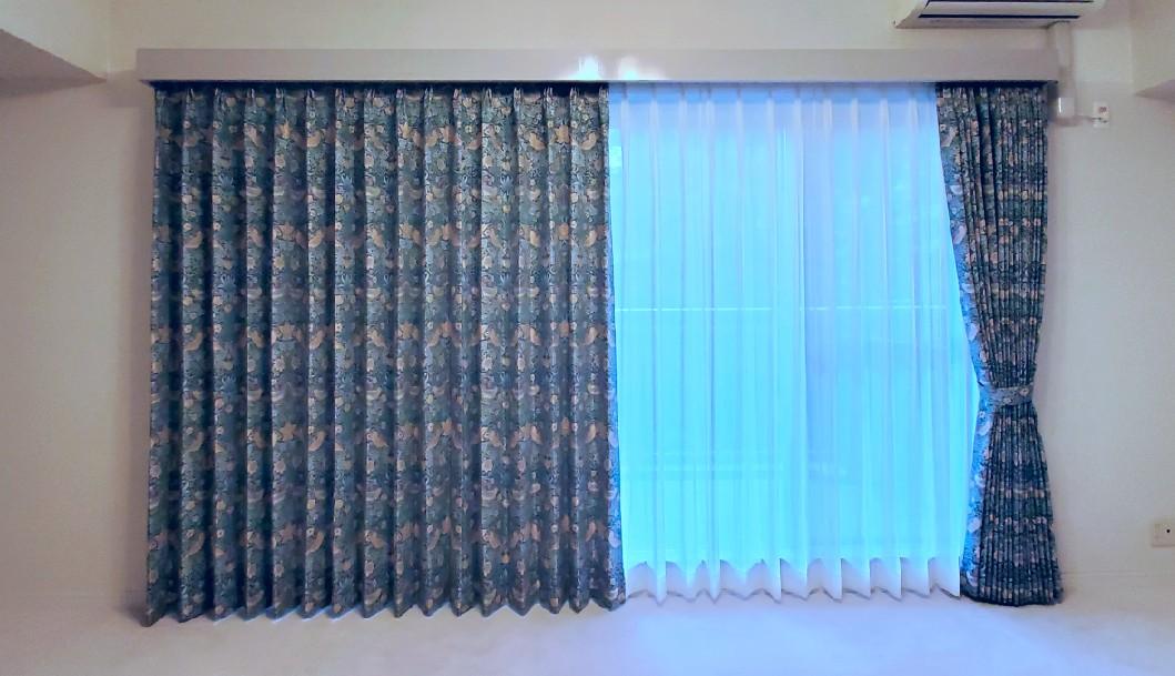ウィリアムモリス 川島織物 いちご泥棒 カーテン