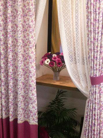 裾切替えスタイルカーテン